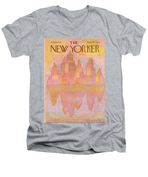 New Yorker August 18th, 1975 Men's V-Neck T-Shirt