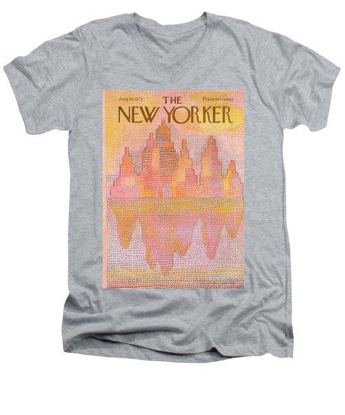 New Yorker August 18th, 1975 Men's V-Neck T-Shirt