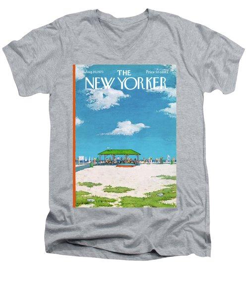 New Yorker August 20th, 1973 Men's V-Neck T-Shirt
