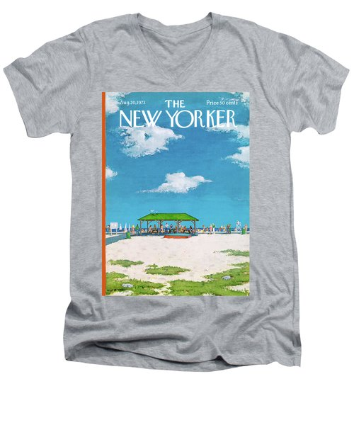 New Yorker August 20th, 1973 Men's V-Neck T-Shirt