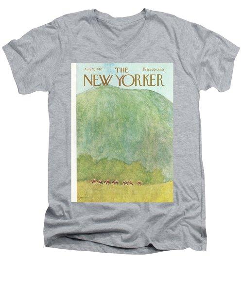 New Yorker August 22nd, 1970 Men's V-Neck T-Shirt