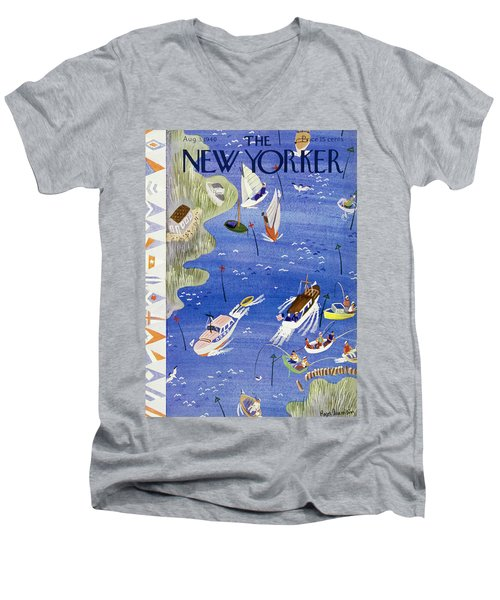 New Yorker August 3 1940 Men's V-Neck T-Shirt