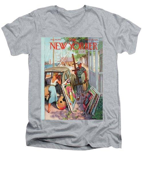 New Yorker August 30th, 1958 Men's V-Neck T-Shirt