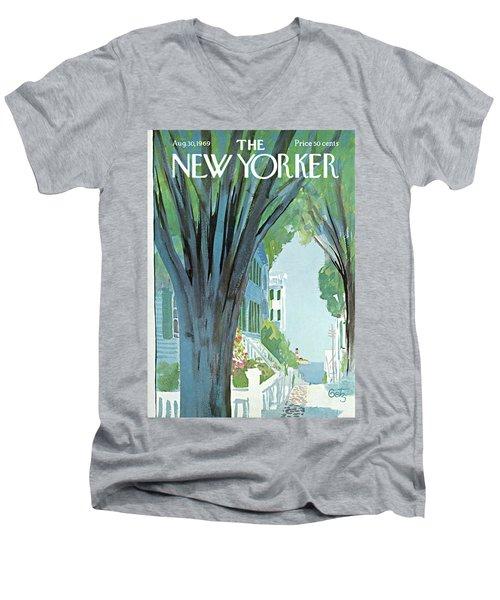 New Yorker August 30th, 1969 Men's V-Neck T-Shirt