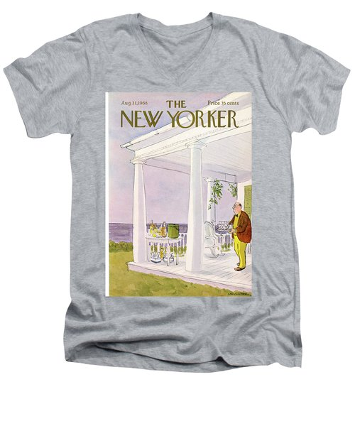 New Yorker August 31st, 1968 Men's V-Neck T-Shirt