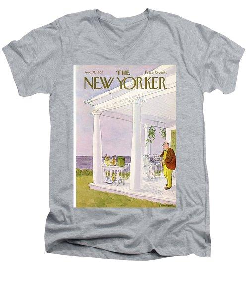 New Yorker August 31st, 1968 Men's V-Neck T-Shirt