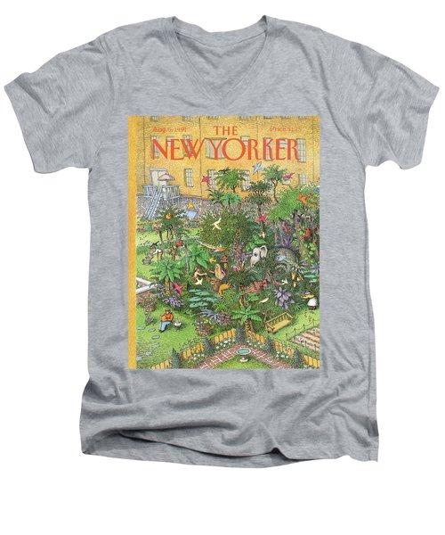New Yorker August 5th, 1991 Men's V-Neck T-Shirt