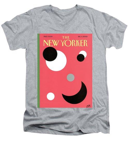 New Yorker December 11th, 2000 Men's V-Neck T-Shirt