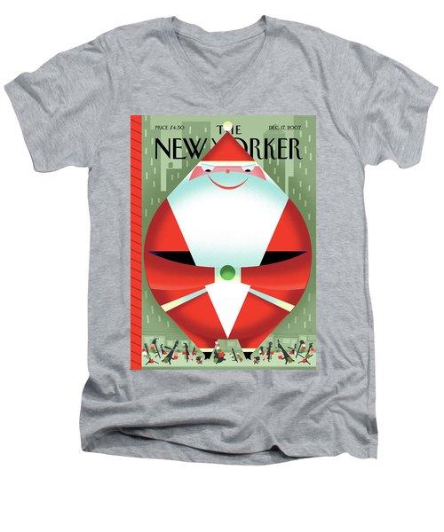 New Yorker December 17th, 2007 Men's V-Neck T-Shirt