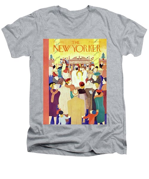 New Yorker December 2 1939 Men's V-Neck T-Shirt