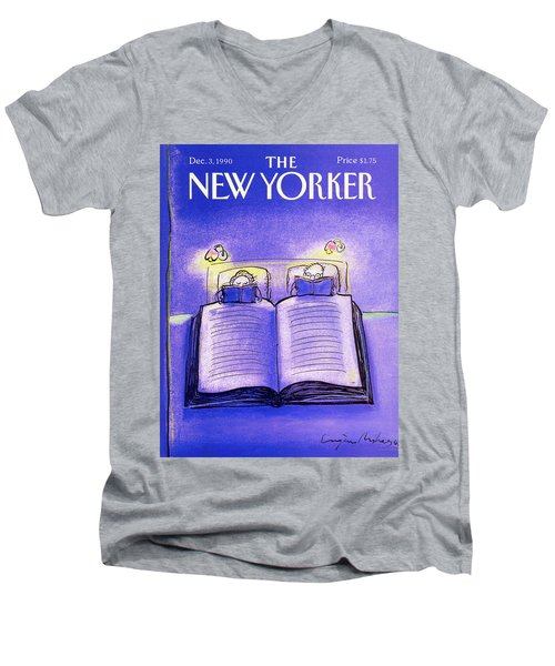 New Yorker December 3rd, 1990 Men's V-Neck T-Shirt