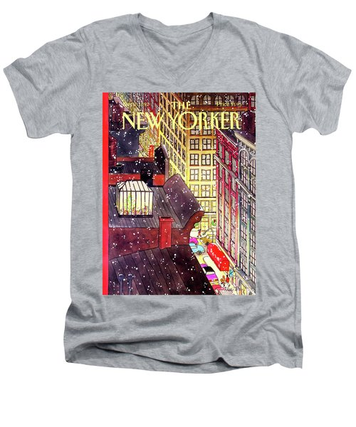New Yorker December 7th, 1992 Men's V-Neck T-Shirt