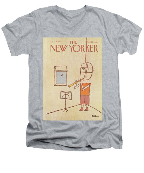 New Yorker December 9th, 1974 Men's V-Neck T-Shirt