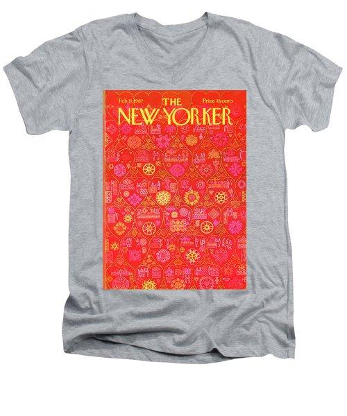New Yorker February 11th, 1967 Men's V-Neck T-Shirt