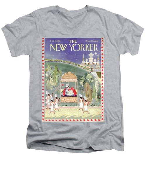 New Yorker February 15th, 1958 Men's V-Neck T-Shirt