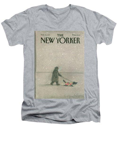 New Yorker February 16th, 1987 Men's V-Neck T-Shirt