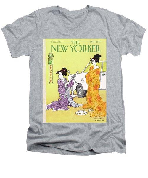 New Yorker February 6th, 1989 Men's V-Neck T-Shirt
