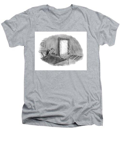 New Yorker January 10th, 1994 Men's V-Neck T-Shirt