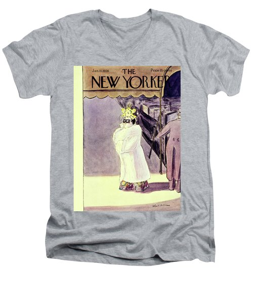 New Yorker January 11 1936 Men's V-Neck T-Shirt