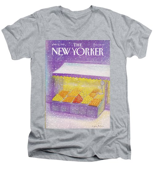 New Yorker January 12th, 1981 Men's V-Neck T-Shirt