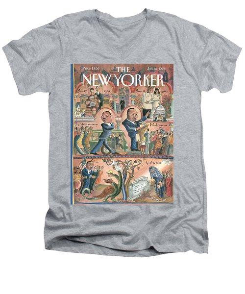 New Yorker January 18th, 1999 Men's V-Neck T-Shirt