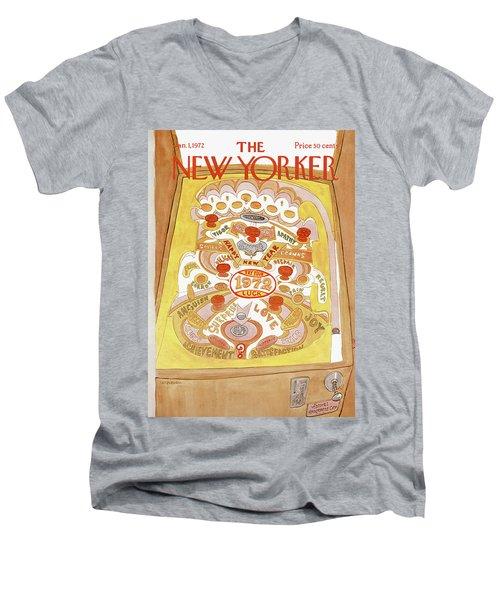 New Yorker January 1st, 1972 Men's V-Neck T-Shirt