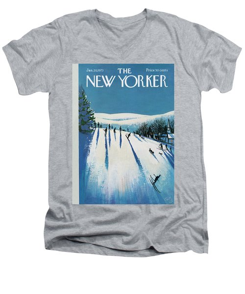 New Yorker January 20th, 1973 Men's V-Neck T-Shirt