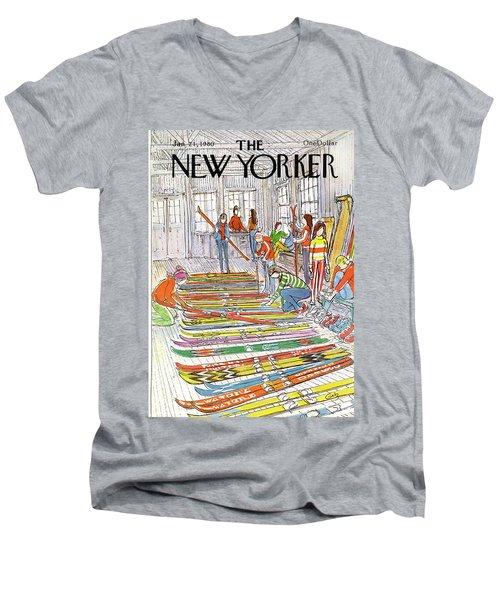 New Yorker January 21st, 1980 Men's V-Neck T-Shirt