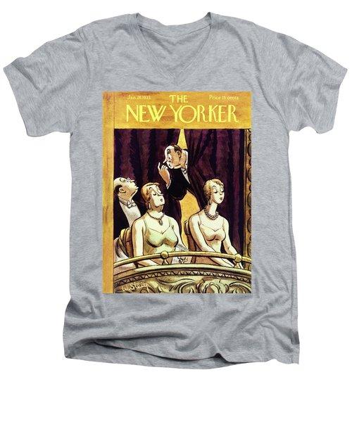 New Yorker January 28 1933 Men's V-Neck T-Shirt