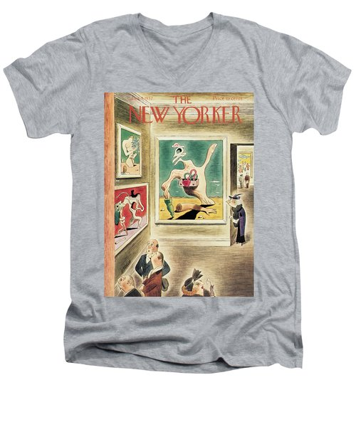 New Yorker January 9th, 1937 Men's V-Neck T-Shirt