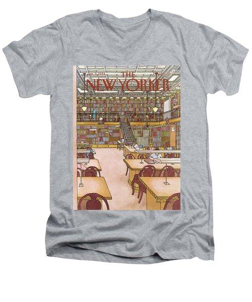 New Yorker January 9th, 1984 Men's V-Neck T-Shirt