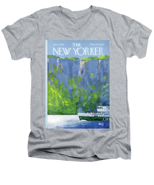 New Yorker July 12th, 1969 Men's V-Neck T-Shirt