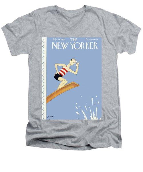 New Yorker July 14 1928 Men's V-Neck T-Shirt
