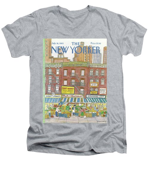 New Yorker July 18th, 1983 Men's V-Neck T-Shirt