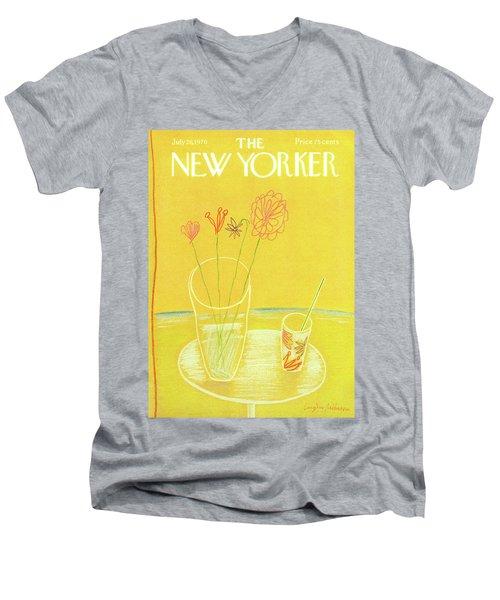 New Yorker July 26th, 1976 Men's V-Neck T-Shirt
