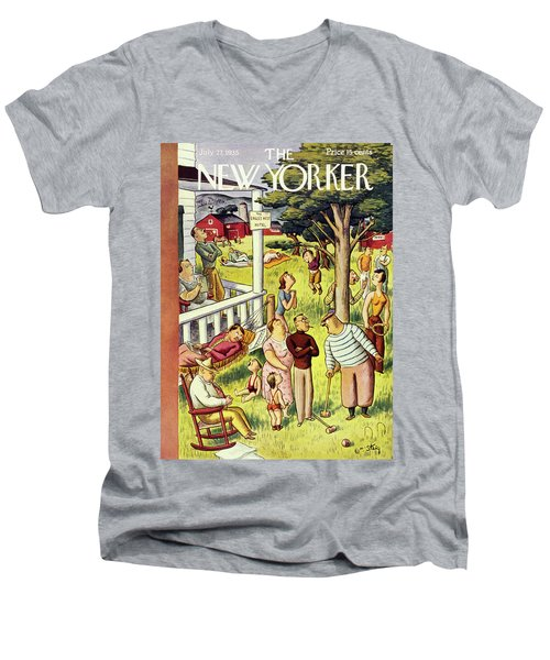 New Yorker July 27 1935 Men's V-Neck T-Shirt
