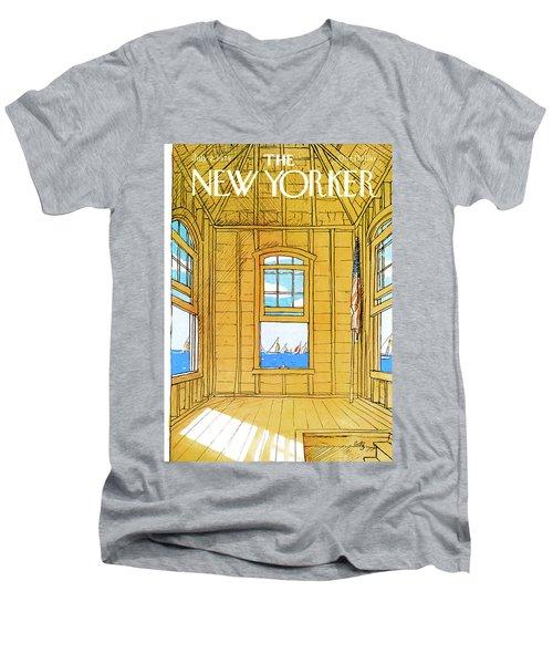 New Yorker July 2nd, 1979 Men's V-Neck T-Shirt