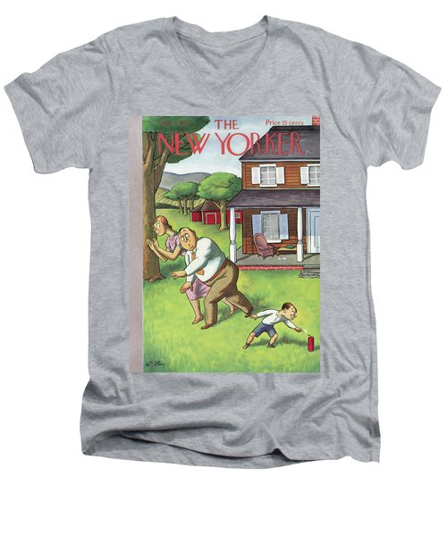 New Yorker July 3rd, 1937 Men's V-Neck T-Shirt