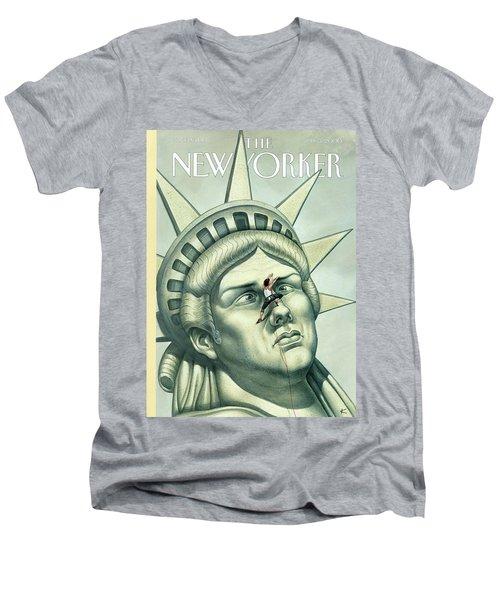 Heres Looking At You Men's V-Neck T-Shirt