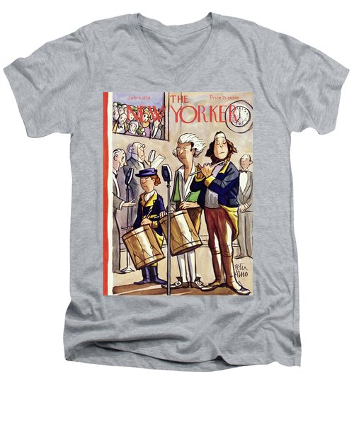 New Yorker July 4 1936 Men's V-Neck T-Shirt