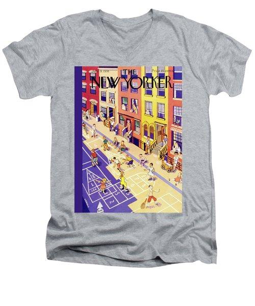 New Yorker July 9 1938 Men's V-Neck T-Shirt
