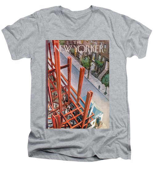 New Yorker July 9th, 1955 Men's V-Neck T-Shirt
