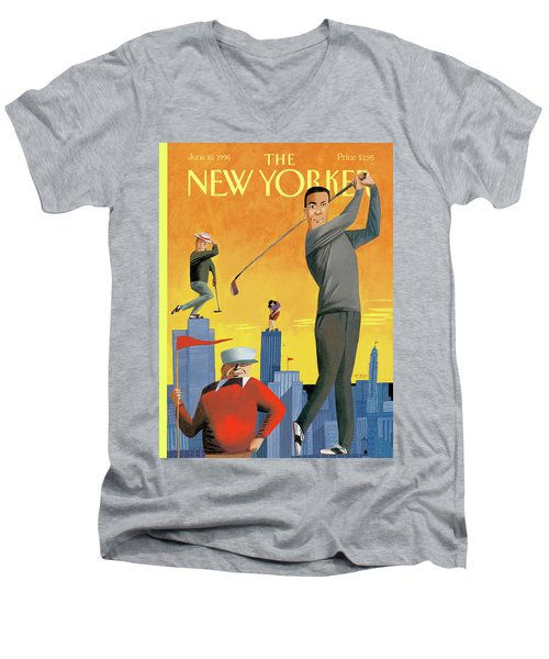 New Yorker June 10th, 1996 Men's V-Neck T-Shirt