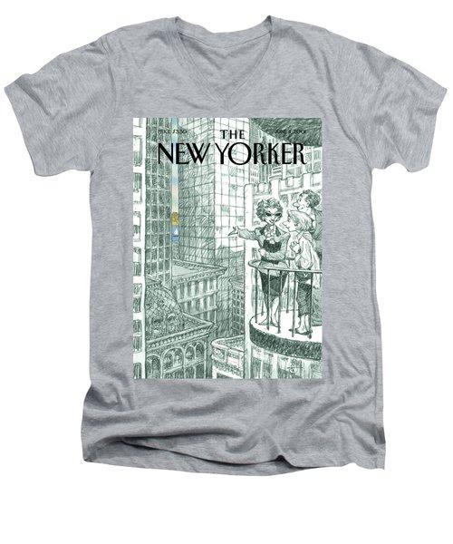 New Yorker June 11th, 2001 Men's V-Neck T-Shirt