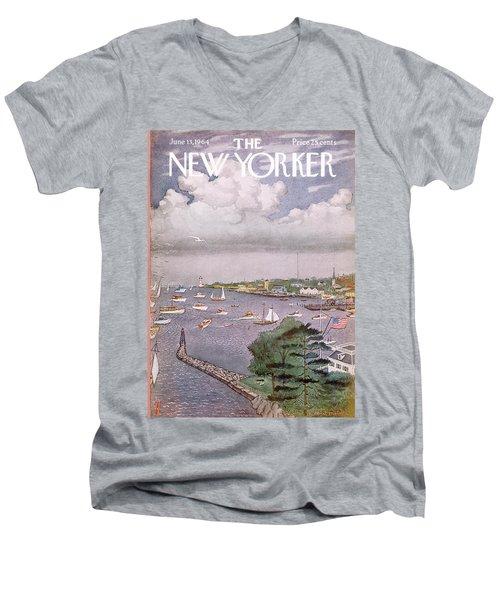 New Yorker June 13th, 1964 Men's V-Neck T-Shirt