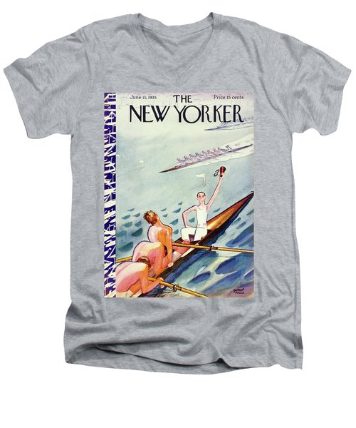 New Yorker June 15 1935 Men's V-Neck T-Shirt