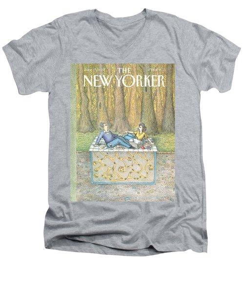 New Yorker June 15th, 1992 Men's V-Neck T-Shirt