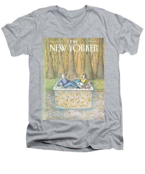 New Yorker June 15th, 1992 Men's V-Neck T-Shirt