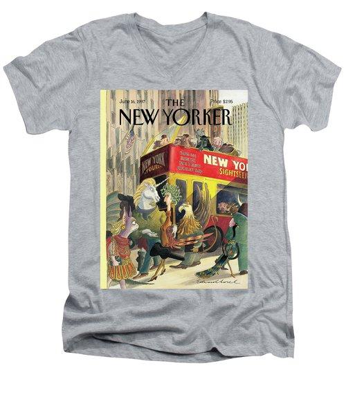 New Yorker June 16th, 1997 Men's V-Neck T-Shirt