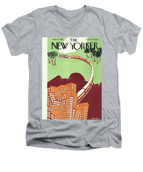 New Yorker June 19 1926 Men's V-Neck T-Shirt